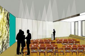 Der Gruppenraum II verspricht Helligkeit und bekommt eine moderne Ausstattung (Quelle: Bau-Kunst-Kesseler GmbH)